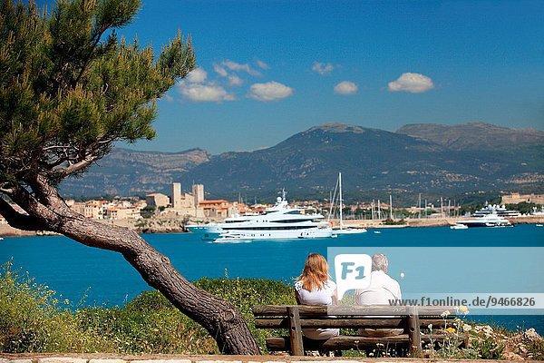 Panorama Frankreich sehen Provence - Alpes-Cote d Azur Alpes maritimes Antibes