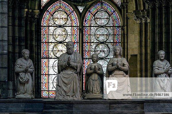 Europe. France. Ile-de-France. Seine-Saint-Denis. City of Saint-Denis. Cathedral-Basilica. Praying figures of the kings of France.
