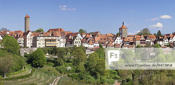 Rothenburg ob der Tauber  Romantische Strasse  Franken  Bayern  Deutschland  Europa