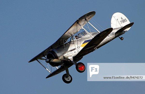 zeigen Großbritannien Krieger Himmel Luftfahrzeug Flugplatz Bedfordshire Kollektion alt