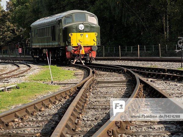 Großbritannien Retro Derbyshire Diesel Lokomotive