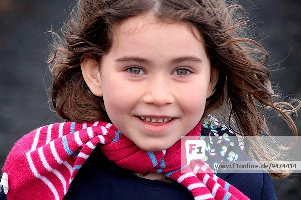 Young girl smiling.La Palma  Canary Islands  Spain.