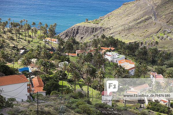 Der Weiler Taguluche  Valle Gran Rey  La Gomera  Kanaren  Spanien  Europa