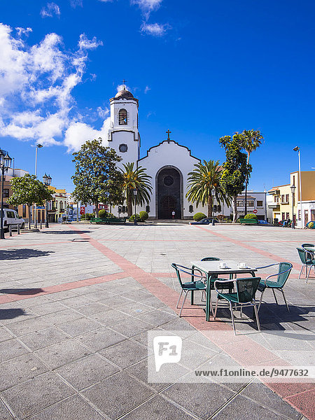 Kirche Nuestra Señora de Montserrat am Plaza de Montserrat  San Andrés y Sauces  San Andres  Los Sauces  La Palma  Kanarische Inseln  Spanien  Europa