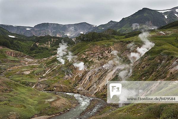 Dolina Geiserow oder Tal der Geysire  Kamschatka  Russland  Europa