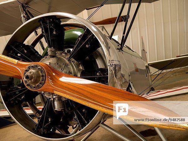 Großbritannien Lehrer dreißiger Jahre Bedfordshire Doppeldeckerflugzeug Doppeldecker Kollektion Propeller
