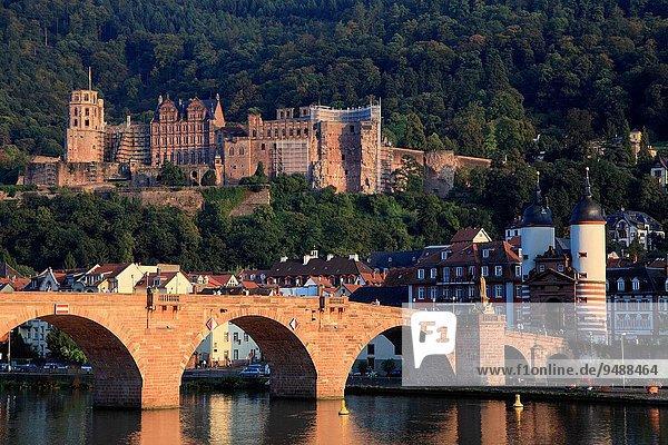 Palast Schloß Schlösser Deutschland Heidelberg Alte Brücke Baden Württemberg