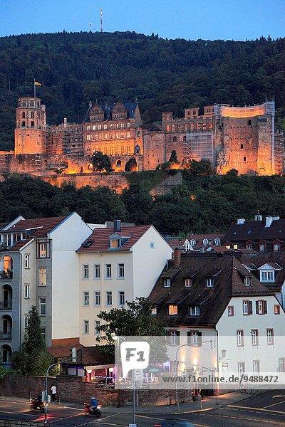 Palast Schloß Schlösser Deutschland Heidelberg Baden Württemberg