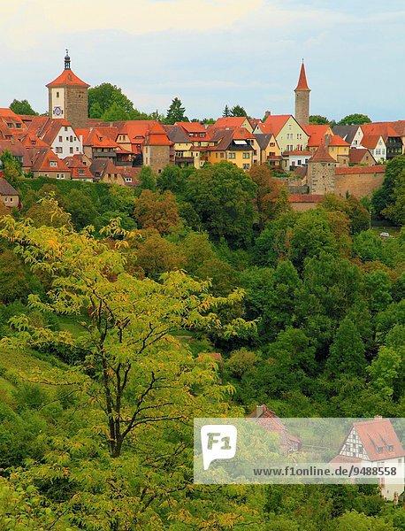 Weitwinkel Landschaftlich schön landschaftlich reizvoll Landschaft Bayern Deutschland