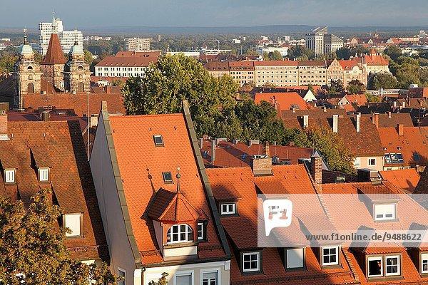 Dach Weitwinkel Bayern Deutschland Nürnberg