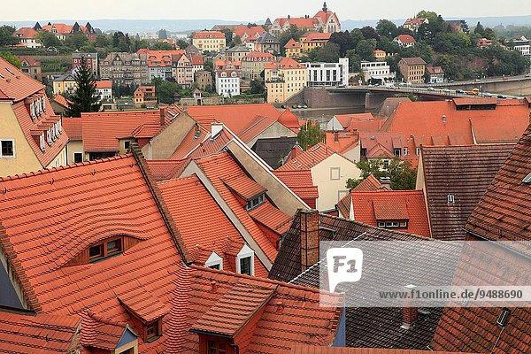 Dach Vogelperspektive Deutschland Meißen Sachsen