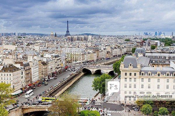 Panoramic view of Paris  France
