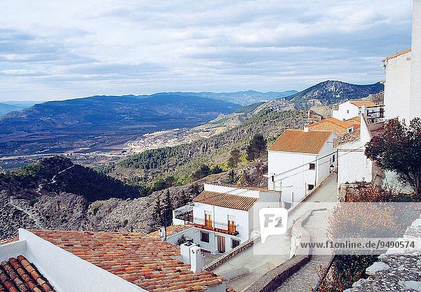 View from the village. Segura de la Sierra  Jaen province  Andalucia  Spain.