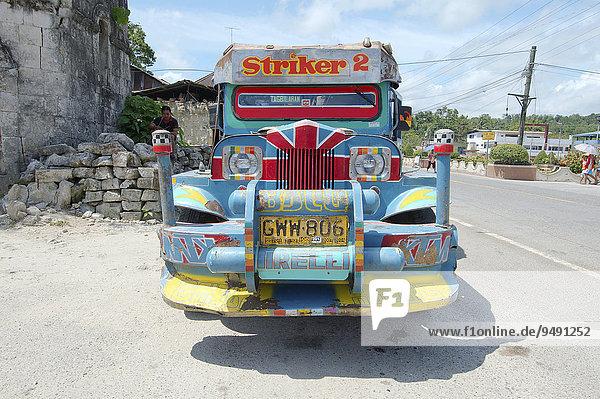 Jeepney bus  Bohol  Philippines  Asia