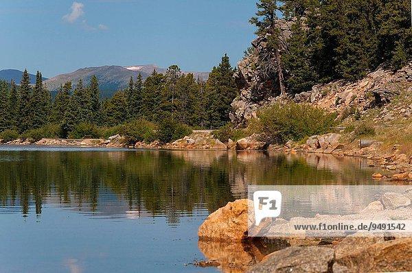 Echo Lake near Mount Evans in Colorado.