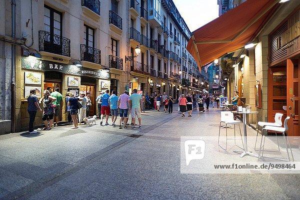 Stadt Großstadt Geschichte alt Spanien Baskenland
