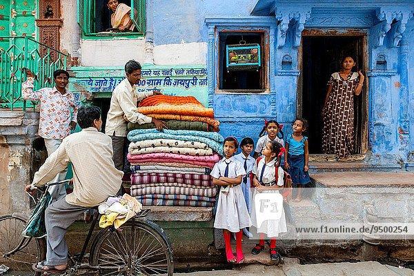 Städtisches Motiv Städtische Motive Straßenszene Indien Jodhpur Rajasthan