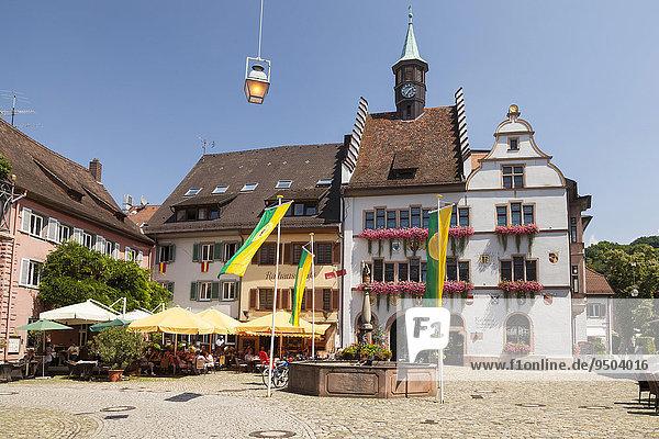 Rathaus mit Stadtmuseum  Staufen im Breisgau  Schwarzwald  Baden-Württemberg  Deutschland  Europa