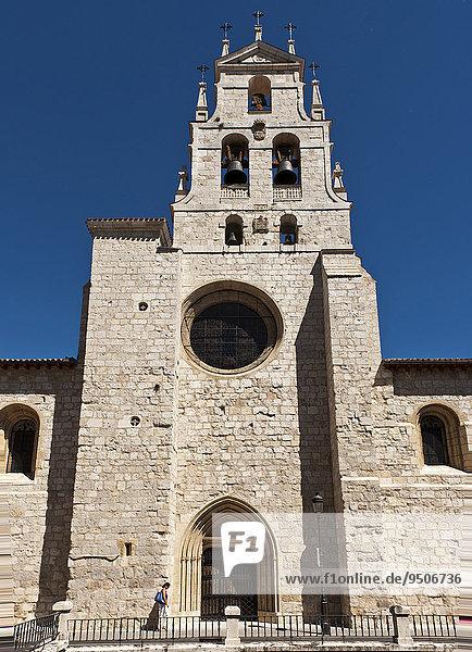 Kirche San Lesmes  Station auf dem Jakobsweg oder Camino de Santiago  Burgos  Region Kastilien und León  Spanien  Europa