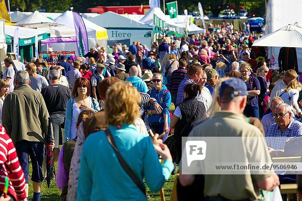 Crowds at Lowther Show  Lowther Estate  Lowther  Penrith  Cumbria UK.