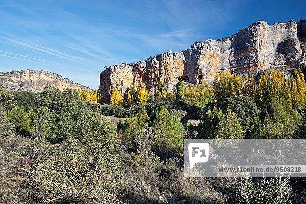 Europa Landschaft Schlucht Leon Segovia Spanien