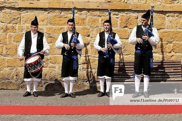 Pipers. Cangas de Onís. Principality of Asturias. Spain.