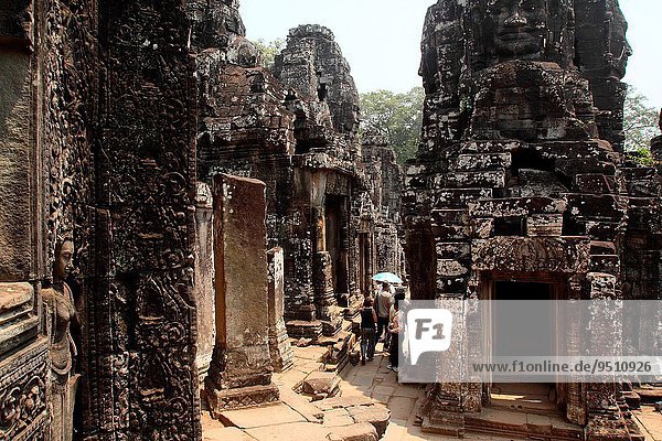 Bayon Temple in the Angkor Thom Area  Siam Reap  Cambodia