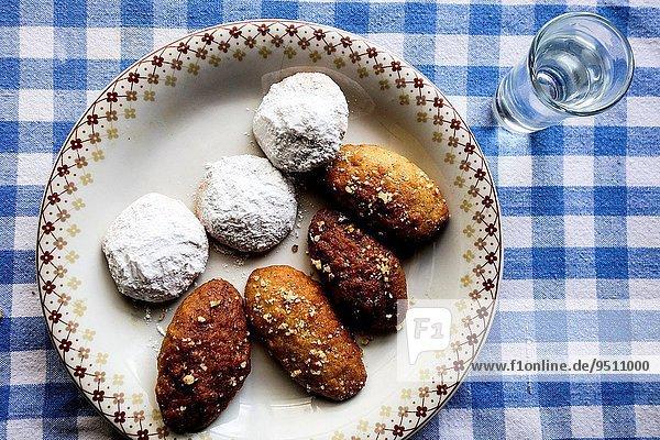 Glas Tradition Weihnachten Griechenland Keks griechisch