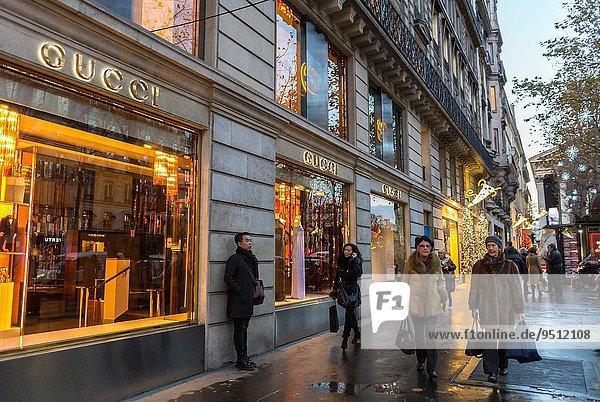 Paris Hauptstadt Frankreich Nacht Kleidung Reichtum Laden