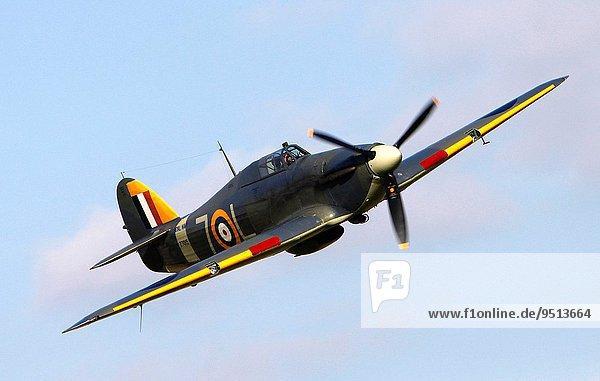 zeigen Großbritannien Meer Krieger Himmel Hurrikan Luftfahrzeug Flugplatz Bedfordshire Kollektion alt