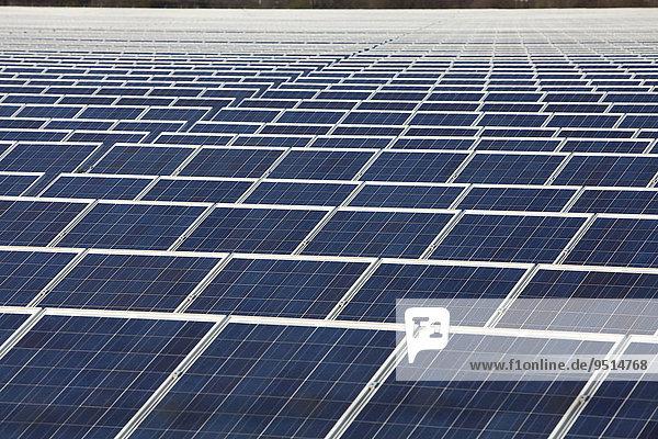Ground-mounted photovoltaic system  solar park Troisdorf F + S  Troisdorf-Oberlar  North Rhine-Westphalia  Germany  Europe