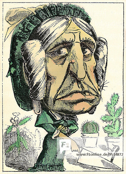 BELLE MERE  Séraphine Eulalie LAMBARDOT  political caricature  1882  by Alphonse Hector Colomb pseudonym B. Moloch  a French caricaturist