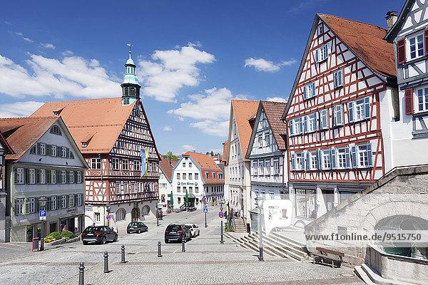 Rathaus am Marktplatz  Backnang  Rems Murr Kreis  Baden Württemberg  Deutschland  Europa