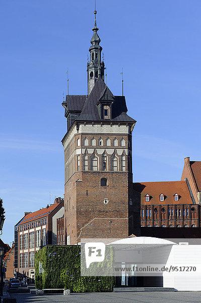 Gefängnisturm mit Bernsteinmuseum  Wieza Wiezienna Katownia  Danzig  Woiwodschaft Pommern  Polen  Europa