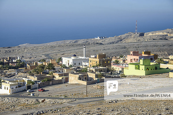The village of Al-Harf  Musandam  Oman  Asia
