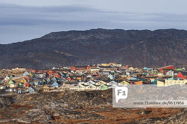 Bunte Holzhäuser  Ilulissat  Grönland