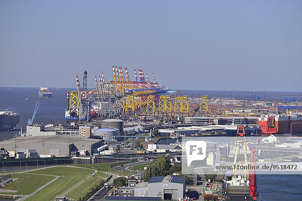 Wilhelm-Kaisen-Terminal  Container-Terminal Bremerhaven  Bremerhaven  Bremen  Deutschland  Europa