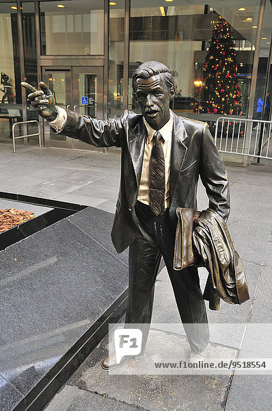 "'Sculpture ""Taxi"" by J. Seward Johnson  New York City  New York  United States  North America'"