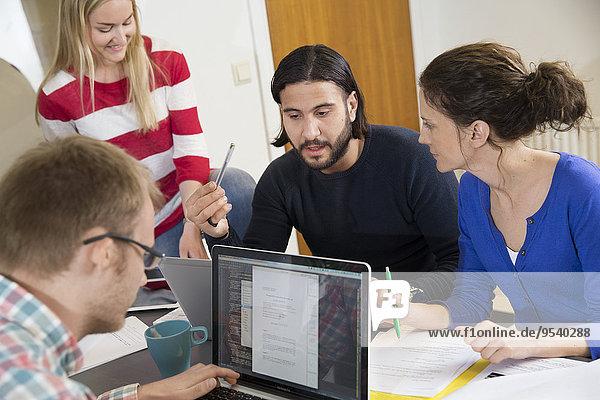 People during meeting