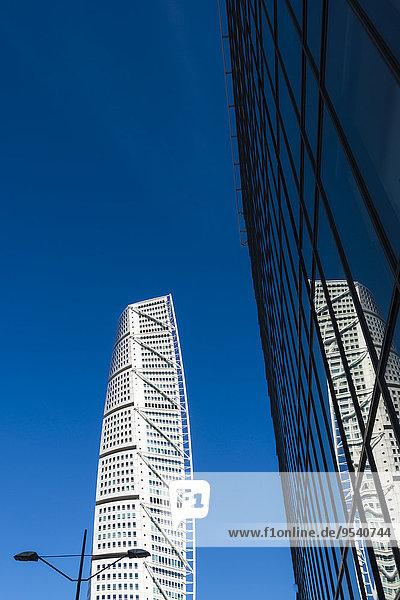 niedrig Hochhaus Ansicht Flachwinkelansicht Winkel