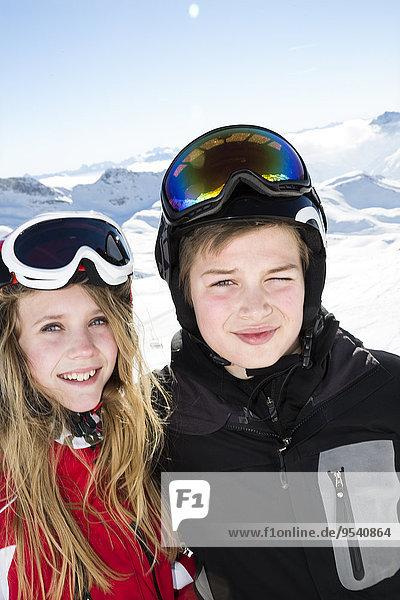 lächeln jung Ski
