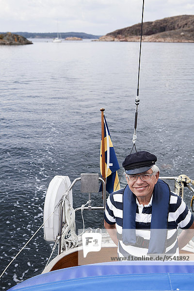 Senior Senioren Mann Boot