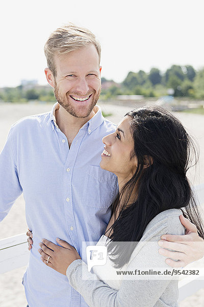 Smiling couple together