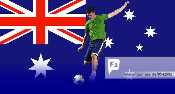 Spiel frontal Fahne schießen Football