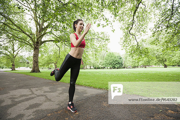 Frau Schönheit Sport joggen Länge voll