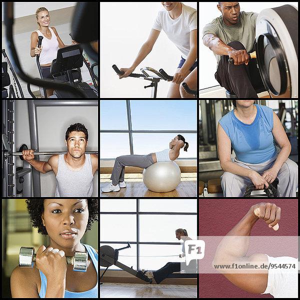 Fitness-Studio Mensch Menschen üben Weg