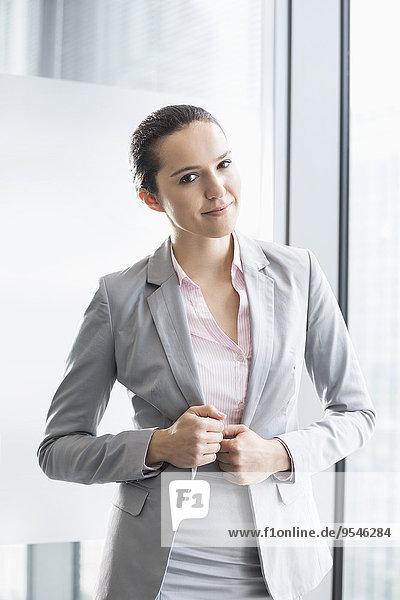 Portrait Geschäftsfrau Büro jung Hoffnung