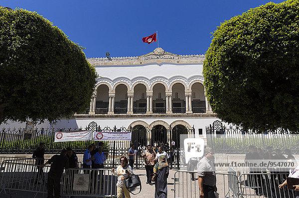 Tunis Hauptstadt Gerichtsgebäude Gesetz