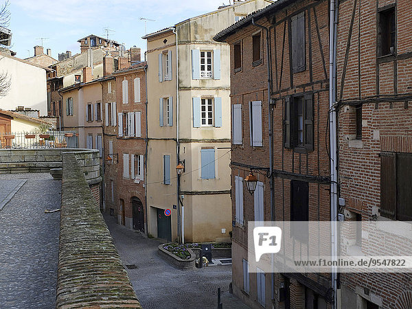 Gebäude Stadt Albi alt