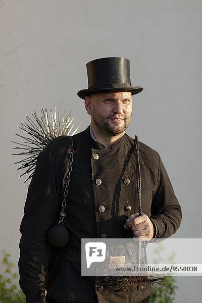 Germany  portrait of chimney sweep